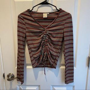Size Medium Shirt With Rouched Top